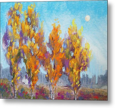 Day Lit Moon Metal Print by Christine Camp