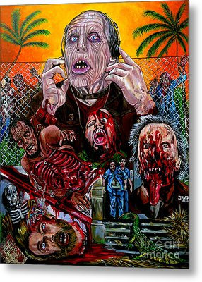 Day Of The Dead Metal Print by Jose Mendez
