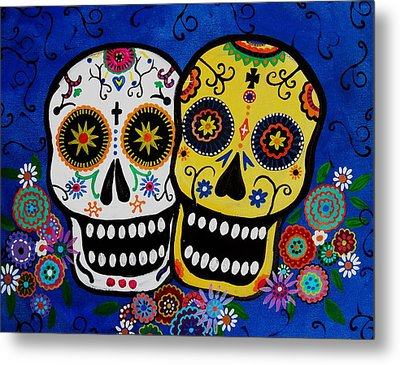Day Of The Dead Sugar Metal Print