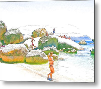 Day Off At Boulders Metal Print by Jan Hattingh