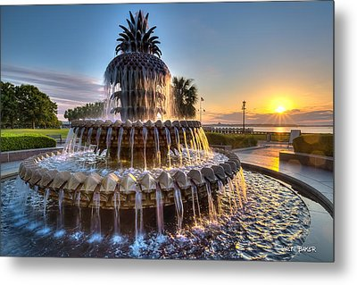 Daybreak In Charleston Metal Print