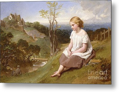 Daydreaming On The River Bank Metal Print