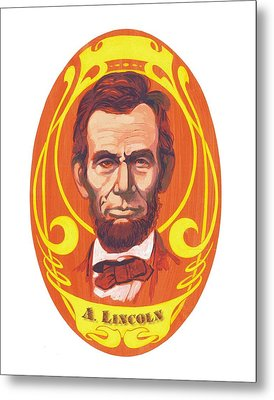 Dayglow Lincoln Metal Print by Harry West