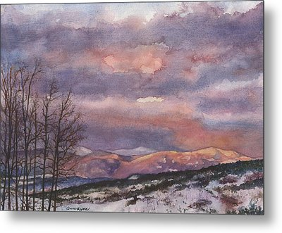 Metal Print featuring the painting Daylight's Last Blush by Anne Gifford
