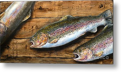 Day's Catch Metal Print by Chad Berglund