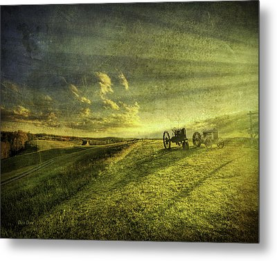 Days Done Metal Print by Mark T Allen