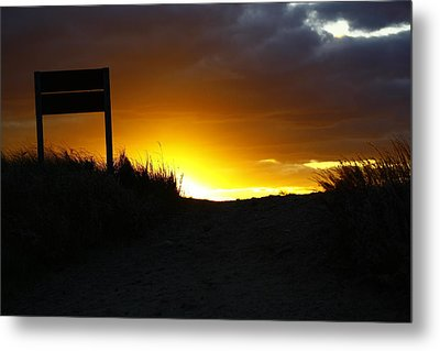 Days End Metal Print by Greg DeBeck