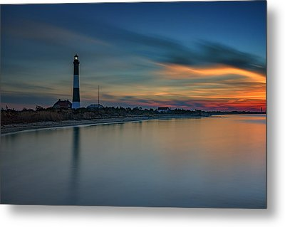 Day's End On Fire Island Metal Print by Rick Berk