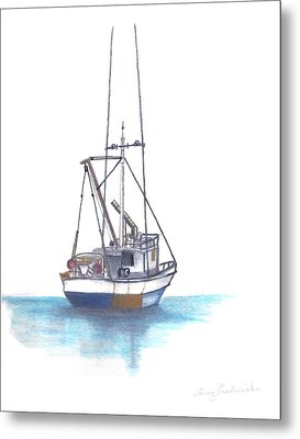 Metal Print featuring the drawing Days End by Terry Frederick