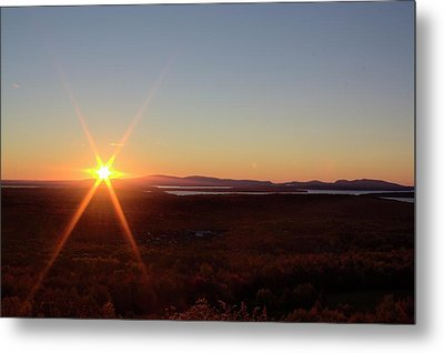 Metal Print featuring the photograph Days First Light Iv Hdr by Greg DeBeck