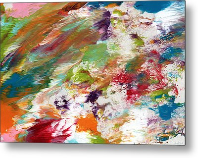 Days Gone By- Abstract Art By Linda Woods Metal Print