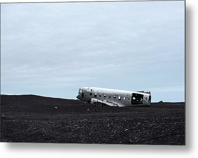 Metal Print featuring the photograph Dc-3 Plane Wreck Iceland by Brad Scott