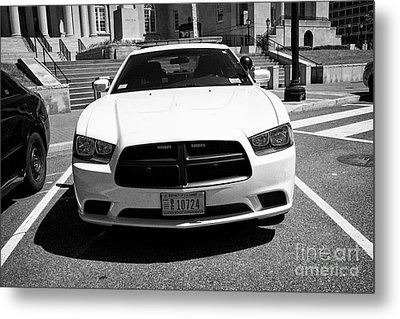 dc metropolitan police dodge charger pursuit cruiser  judiciary square Washington DC USA Metal Print
