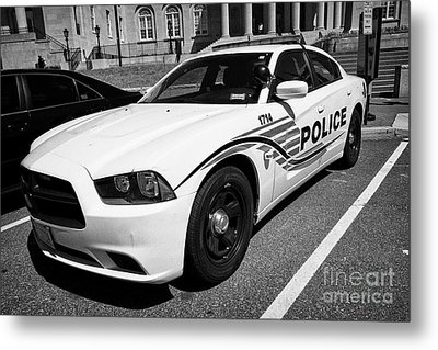 dc metropolitan police patrol cruiser car judiciary square Washington DC USA Metal Print