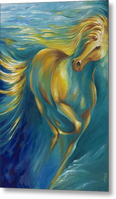 Metal Print featuring the painting De La Mare by Dina Dargo
