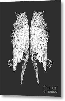 Dead Birds Tee White Metal Print by Edward Fielding