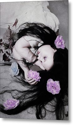 Dead Roses Metal Print by Cambion Art
