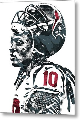 Deandre Hopkins Houston Texans Pixel Art 2 Metal Print by Joe Hamilton