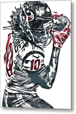 Deandre Hopkins Houston Texans Pixel Art Metal Print by Joe Hamilton