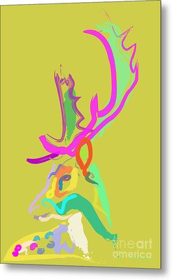 Dear Deer Metal Print by Go Van Kampen