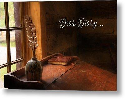Dear Diary Metal Print by Lori Deiter