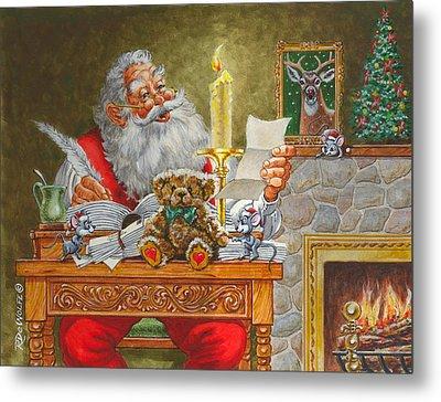 Dear Santa Metal Print by Richard De Wolfe