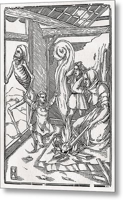 Death Comes For The Child After Hans Metal Print by Vintage Design Pics