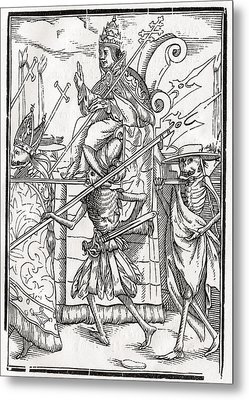 Death Comes For The Pope From Der Metal Print by Vintage Design Pics