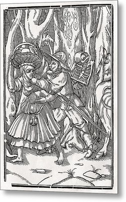 Death Comes For The Robber After Hans Metal Print by Vintage Design Pics