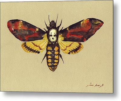 Death Head Hawk Moth Metal Print by Juan Bosco