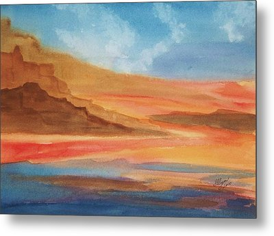 Metal Print featuring the painting Death Valley by Ellen Levinson