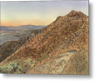 Metal Print featuring the painting Death Valley From Dante's View  A November Sunset by Joel Deutsch