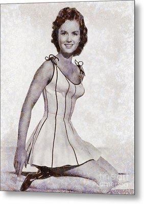 Debbie Reynolds, Vintage Actress By Sarah Kirk Metal Print by Sarah Kirk