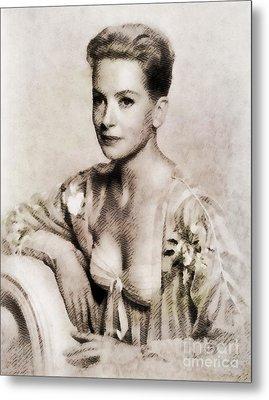 Deborah Kerr, Vintage Actress. Digital Art By John Springfield Metal Print by John Springfield