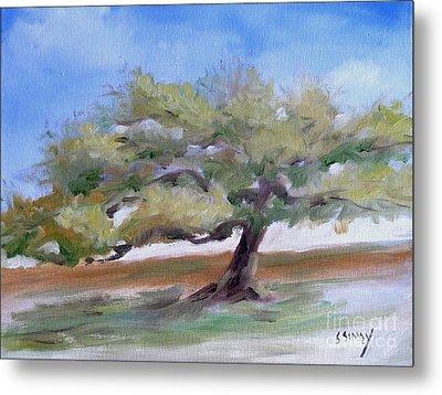 Metal Print featuring the painting Deborah's Tree by Sally Simon