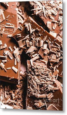 Decadent Chocolate Background Texture Metal Print
