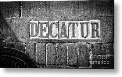 Decatur Street Nola- Bw Metal Print