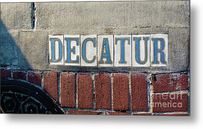Decatur Street Sign- Nola Metal Print