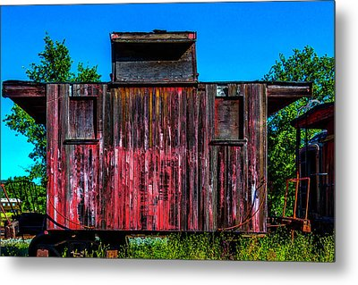 Decaying Caboose Metal Print by Garry Gay