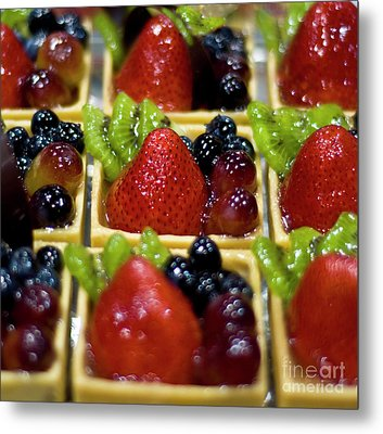 Decedent Berry And Kiwi Cups Metal Print