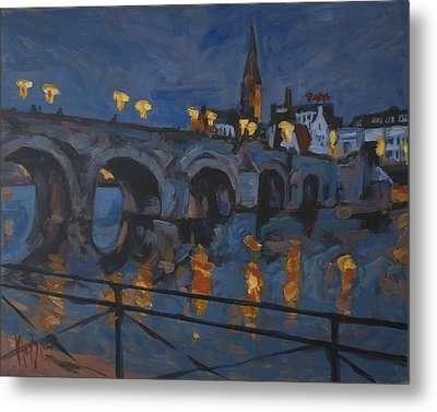December Lights Old Bridge Maastricht Acryl Metal Print