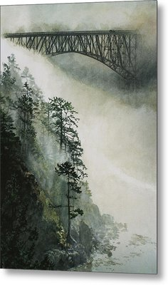 Deception Pass Fog Metal Print by Perry Woodfin