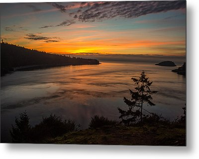 Deception Pass Sunset Metal Print by Calazone's Flics