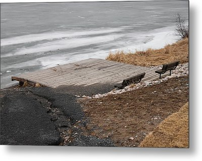 Deck And Benches Metal Print by Richard Mitchell