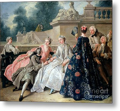 Declaration Of Love Metal Print by Jean Francois de Troy