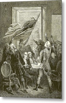 Declaration Of The Independence Of The United States Metal Print by American School