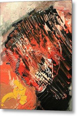 Declaration Of War Self Portrait Metal Print by Michael Kulick