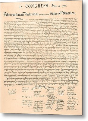 Declarations Of Independence Metal Print by Declarations of Independence