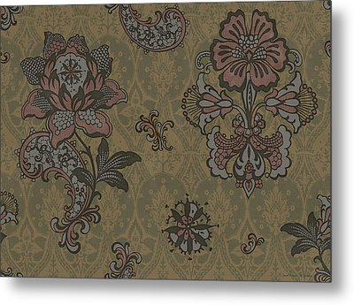 Deco Flower Brown Metal Print by JQ Licensing