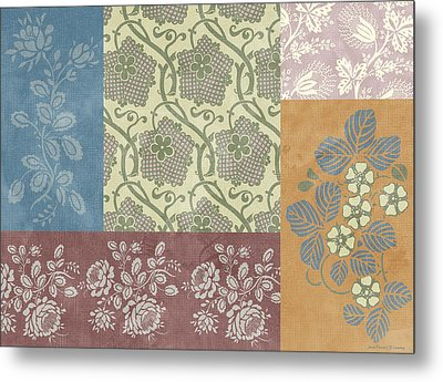 Deco Flower Patchwork 2 Metal Print